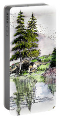Colorado Lake Reflections Portable Battery Charger