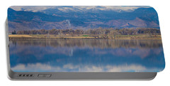 Colorado Longs Peak Circling Clouds Reflection Portable Battery Charger