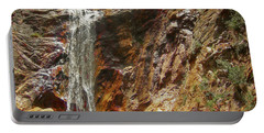 Portable Battery Charger featuring the photograph Colorado Red Rock Waterfall by Andrea Hazel Ihlefeld