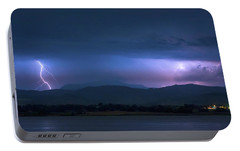 Portable Battery Charger featuring the photograph Colorado Rocky Mountain Foothills Storm by James BO Insogna
