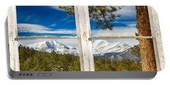 Colorado Rocky Mountain Rustic Window View Portable Battery Charger