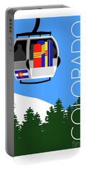 Colorado Ski Country Blue Portable Battery Charger