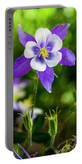 Colorado Wildflower Columbines Portable Battery Charger by Teri Virbickis