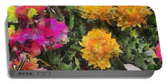 Colored Flowers Portable Battery Charger