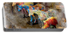 Portable Battery Charger featuring the photograph Colored Horses. by Andrey  Godyaykin