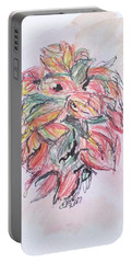 Colored Pencil Flowers Portable Battery Charger