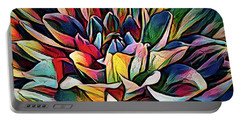 Colorful Abstract Dahlia Portable Battery Charger