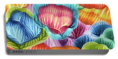Colorful Abstract Flower Petals Portable Battery Charger