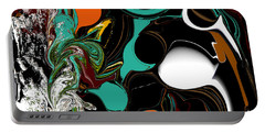 Colorful Abstract Portable Battery Charger by Jessica Wright