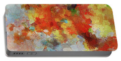 Portable Battery Charger featuring the painting Colorful Abstract Landscape Painting by Ayse Deniz