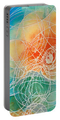 Colorful Art - Color Wash - By Sharon Cummings Portable Battery Charger