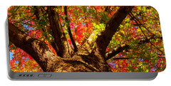 Colorful Autumn Abstract Portable Battery Charger