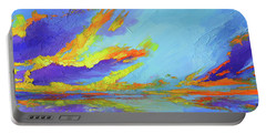 Colorful Beach Sunset Oil Painting  Portable Battery Charger