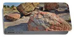 Colorful Boulders In The Bentonite Site On Little Park Road Portable Battery Charger