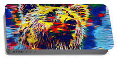 Colorful Brown Bear Portable Battery Charger