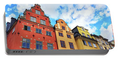 Colorful Buildings In Gamla Stan, Stockholm Portable Battery Charger