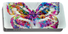 Colorful Butterfly Art Portable Battery Charger