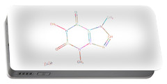 Colorful Caffeine Molecular Structure Portable Battery Charger