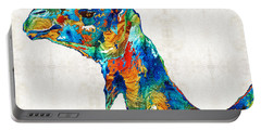Colorful Camel Art By Sharon Cummings Portable Battery Charger