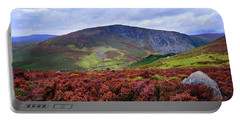 Portable Battery Charger featuring the photograph Colorful Carpet Of Wicklow Hills by Jenny Rainbow