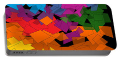 Colorful Chaos Two Portable Battery Charger by Val Arie