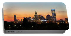 Colorful Charlotte, North Carolina Portable Battery Charger by Serge Skiba