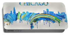 Colorful Chicago Skyline Portable Battery Charger