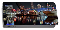 Portable Battery Charger featuring the photograph Colorful Cleveland Flats by Frozen in Time Fine Art Photography