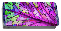 Colorful Coleus Abstract 3 Portable Battery Charger