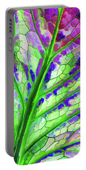 Colorful Coleus Abstract 4 Portable Battery Charger