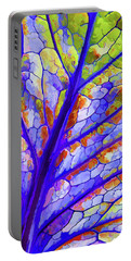 Colorful Coleus Abstract 6 Portable Battery Charger