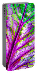 Colorful Coleus Abstract 1 Portable Battery Charger