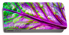 Colorful Coleus Abstract 2 Portable Battery Charger