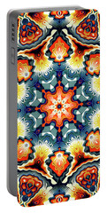 Colorful Concentric Motif Portable Battery Charger by Phil Perkins