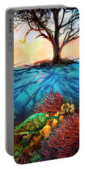 Portable Battery Charger featuring the photograph Colorful Coral Seas by Debra and Dave Vanderlaan
