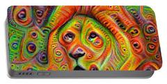 Colorful Crazy Lion Deep Dream Portable Battery Charger