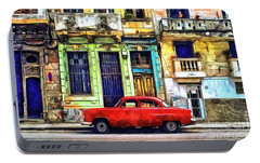 Portable Battery Charger featuring the painting Colorful Cuba by Edward Fielding