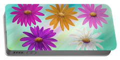 Colorful Daisies Portable Battery Charger