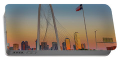 Colorful Dallas Sunset Portable Battery Charger by John Roberts