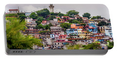 Colorful Houses On The Hill Portable Battery Charger