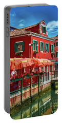 Colorful Day In Burano Portable Battery Charger