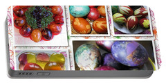 Portable Battery Charger featuring the photograph Colorful Easter Eggs Collage 07 by Ausra Huntington nee Paulauskaite