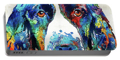 Colorful English Springer Spaniel Dog By Sharon Cummings Portable Battery Charger
