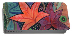 Colorful Fall Portable Battery Charger by Helena Tiainen