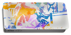 Colorful Fearless Girl Portable Battery Charger by Dan Sproul