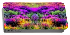 Colorful Field Of A Lavender Portable Battery Charger by Anton Kalinichev