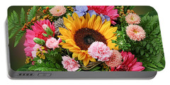 Colorful Flower Arrangement Portable Battery Charger