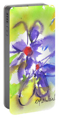 Colorful Flower Portable Battery Charger by Kathleen McElwaine