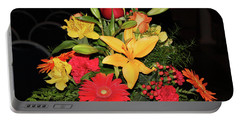 Colorful Flowers Portable Battery Charger by Suhas Tavkar
