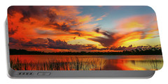 Colorful Fort Pierce Sunset Portable Battery Charger by Tom Claud